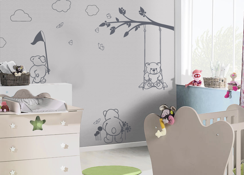 chambre bebe fille papier peint. Black Bedroom Furniture Sets. Home Design Ideas
